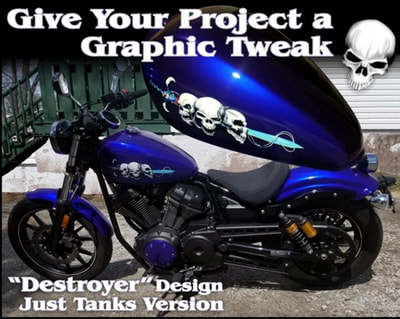 Tattooed Ride Motorcycle Decal Graphics Motorcycle